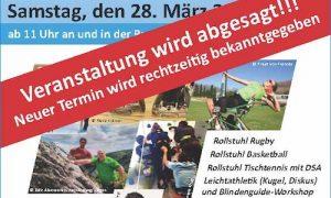 Absage: Sport-Schnupper-Tag für Menschen mit und ohne Behinderung + BSV Rlp Talent Tag