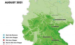 Sangerhausen macht Etappenorte  der Deutschland Tour 2021 komplett