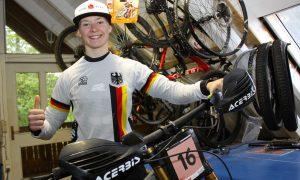 Bei der Downhill-WM wird Raphaela Richter als Sechste beste deutsche Starterin