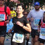 VLG-Läuferin Dr. Esther Vornholt beim Berlin Marathon am Start